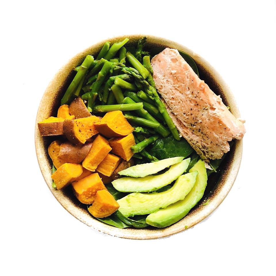 Salmon Sweet Potato Bowl