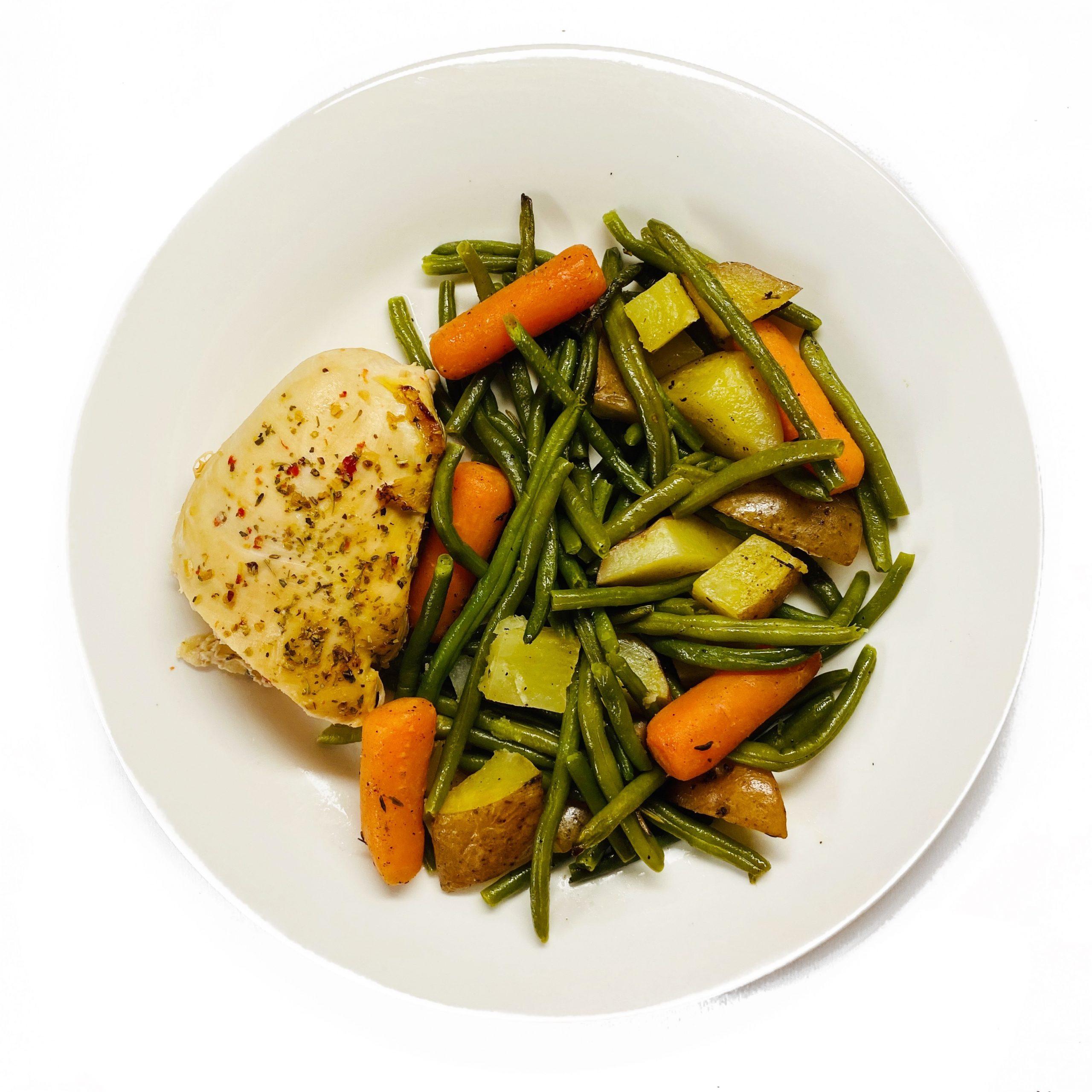 Italian Chicken and Herb Roasted Veggies
