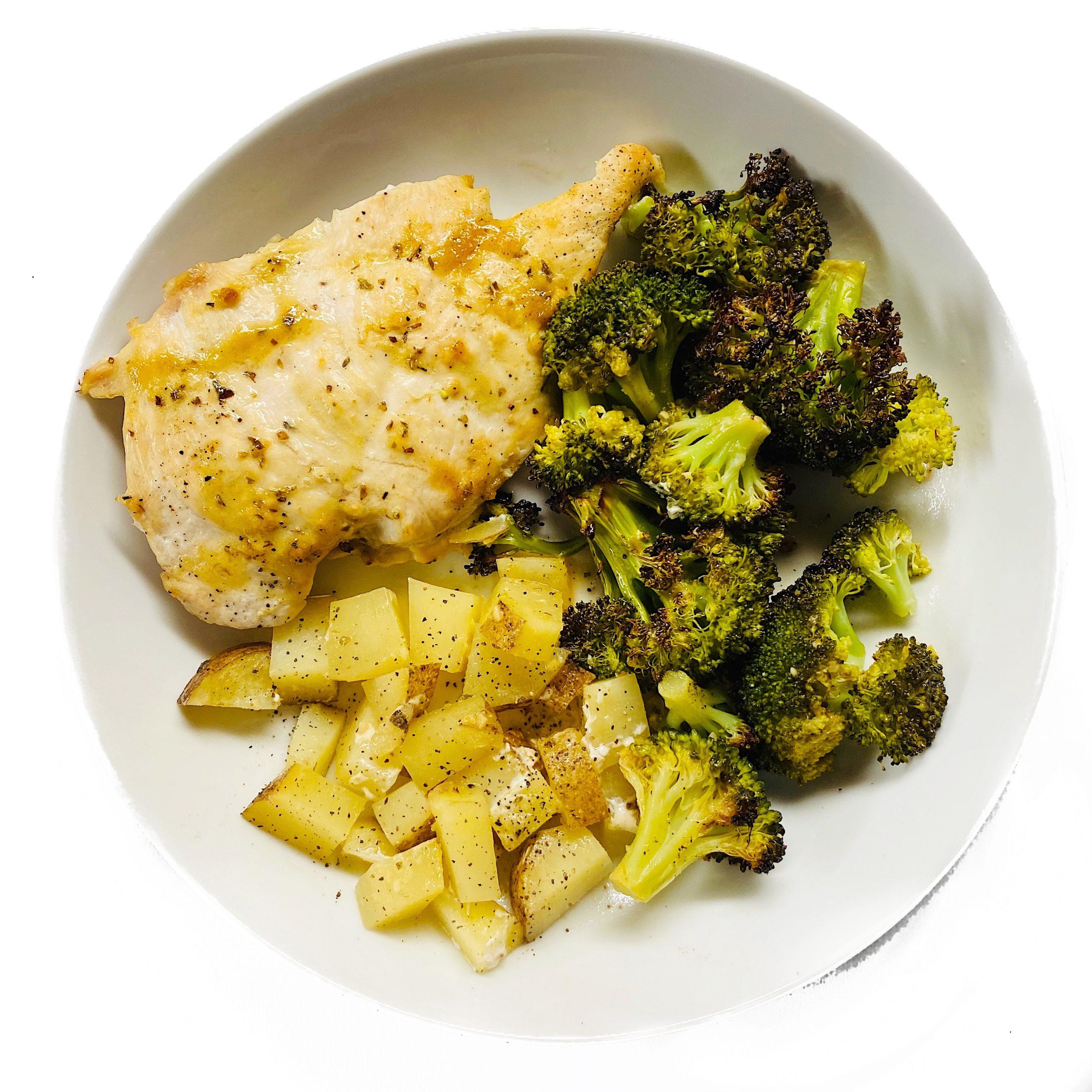 Honey Dijon Chicken and veggies