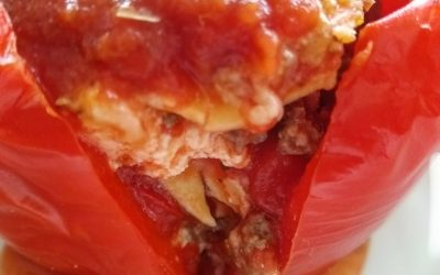 Individual Lasagna Stuffed Peppers