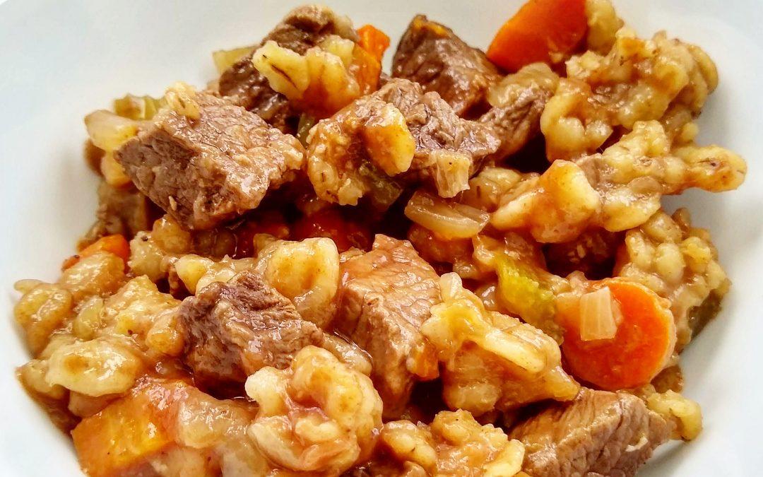 Instant Pot Beef & Barley Stew Dinner