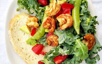 Shrimp Strawberry Avocado Salad