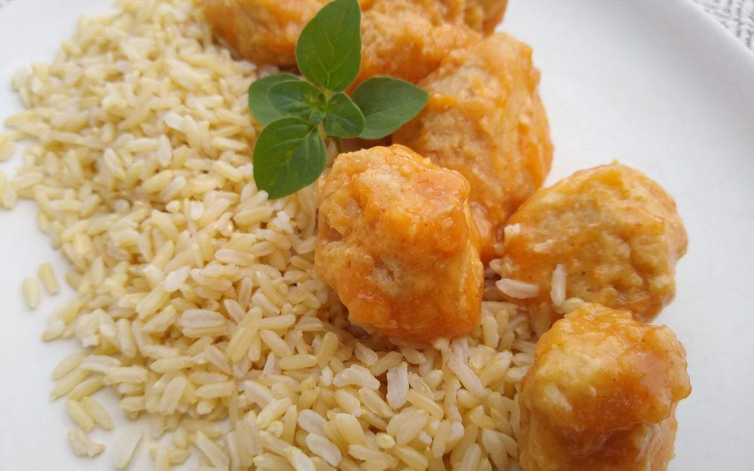 Sweet & Spicy Chicken Meatballs